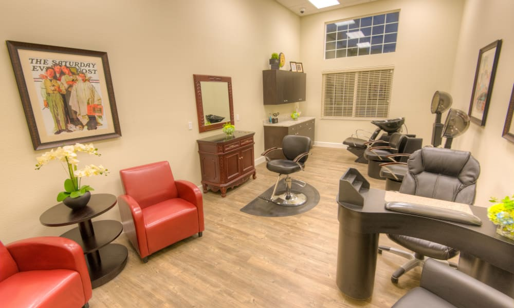 An onsite salon at Inspired Living in Sun City Center, Florida