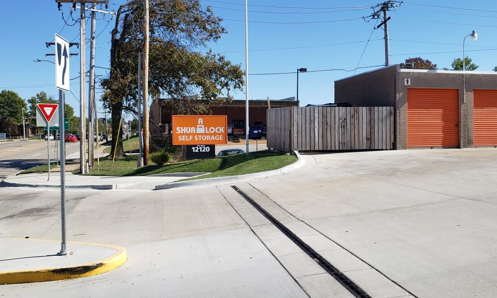 Front entrance at A Shur-Lock Self Storage in Maryland Heights, Missouri