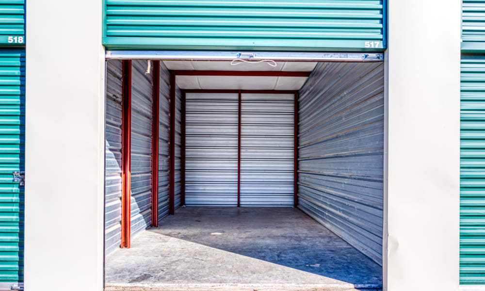 Interior of a self storage unit at Devon Self Storage in Greenville, Texas