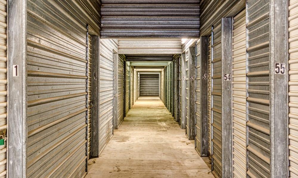 Interior storage units at Devon Self Storage in Austin, Texas