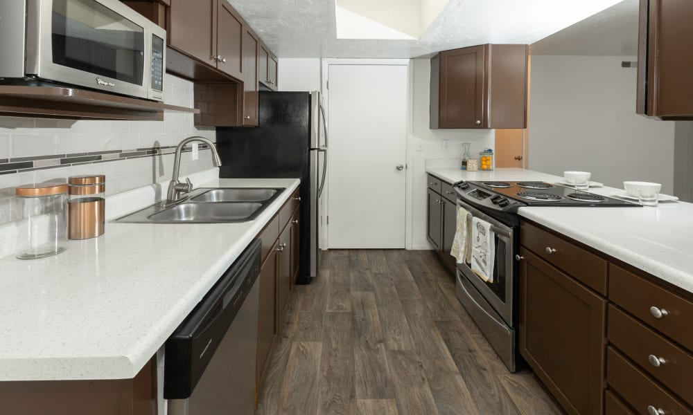Renovated Brown Kitchn
