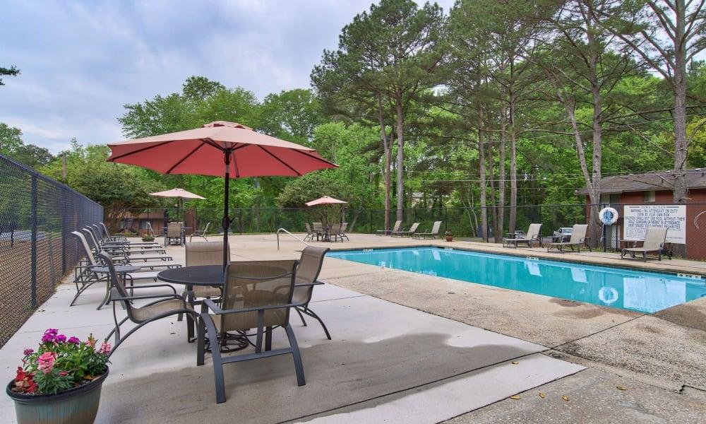 A gated community pool at Beckett Park in Smyrna, Georgia