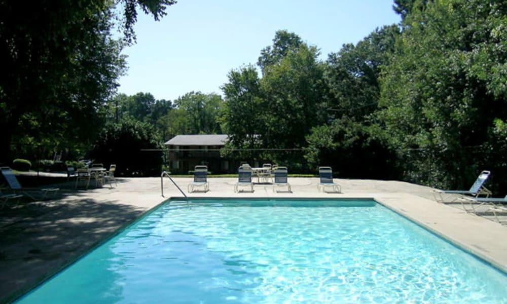 Sparkling pool at Beckett Park in Smyrna, Georgia