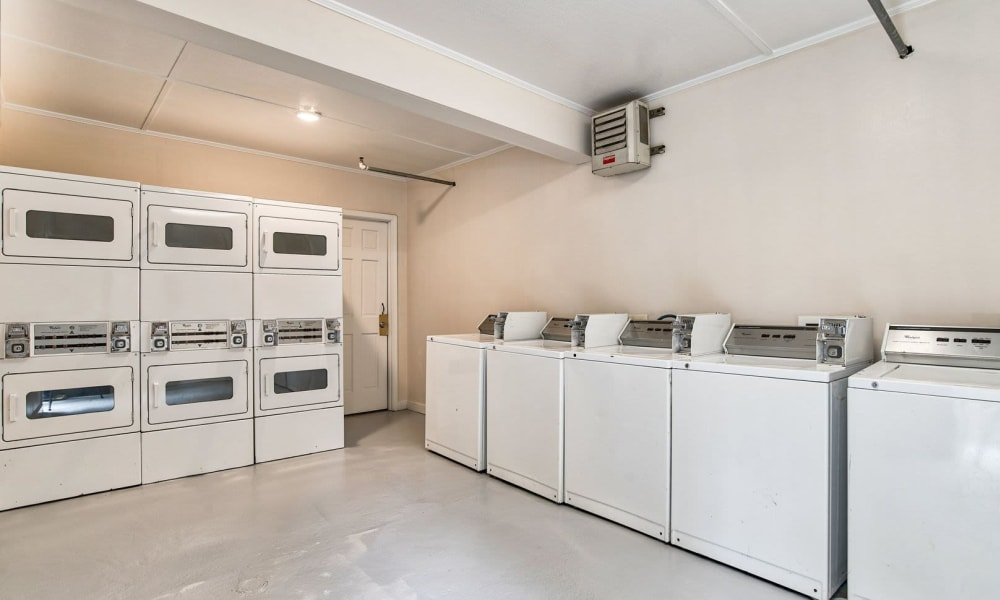 Onsite laundry machines at Carriage House Apartments in Smyrna, Georgia