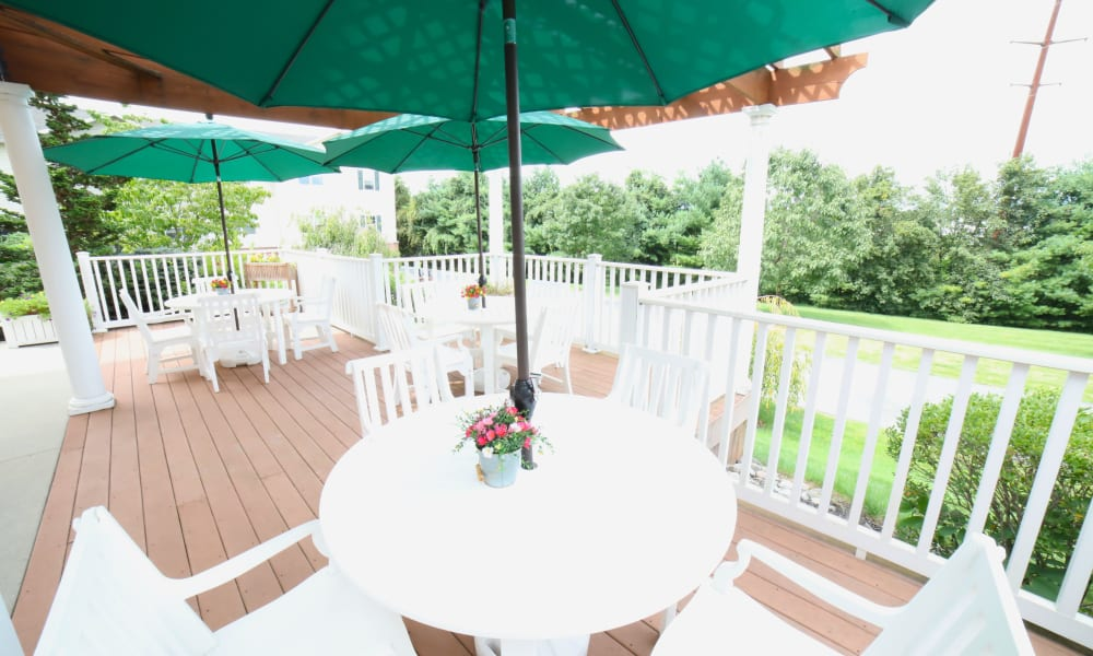 Outdoor patio at Traditions of Hanover in Bethlehem, Pennsylvania