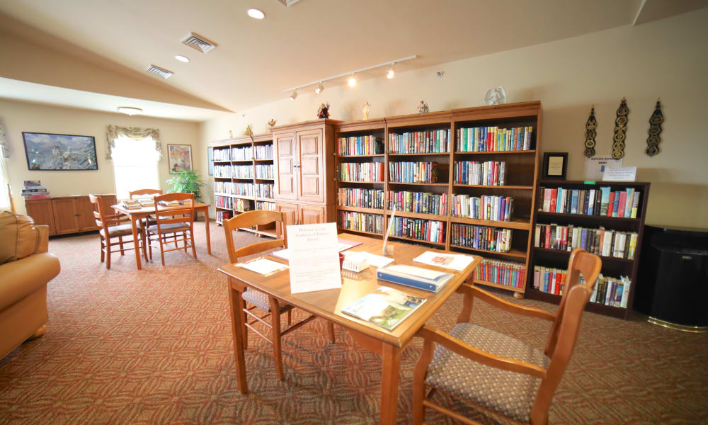 Library at Traditions of Hanover in Bethlehem, Pennsylvania