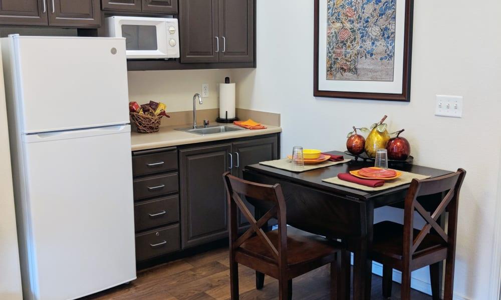 Kitchen at Timber Pointe Senior Living in Springfield, Oregon