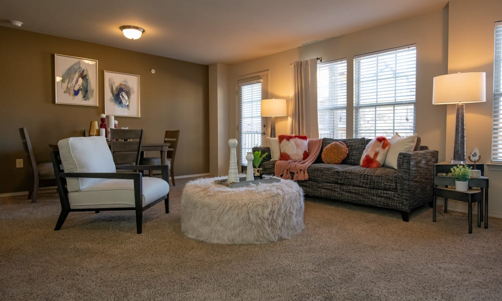 An apartment living room at Villas at Canyon Ranch in Yukon, Oklahoma
