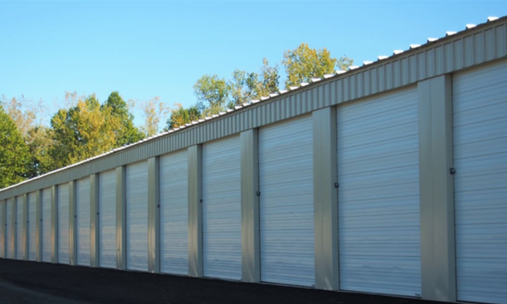 Drive-up storage units at Stop-N-Go Storage in Delaware, Ohio