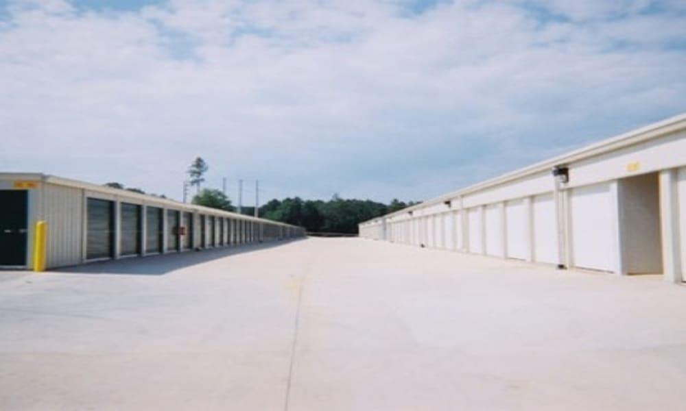 Wide driveways at A Storage of Daphne in Daphne, Alabama