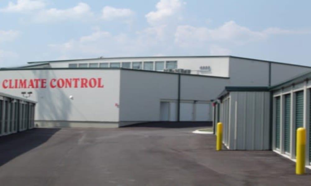 Row of storage units at Michigan Storage Centers in Farmington Hills, Michigan