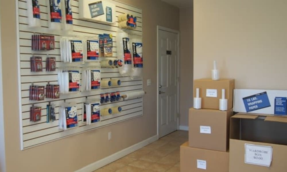 Packing supplies available for purchase at Michigan Storage Centers in Farmington Hills, Michigan