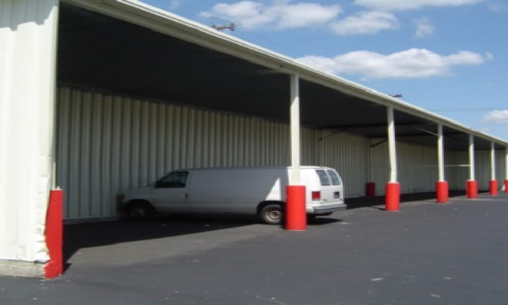 Van being stored at Michigan Storage Centers in Oak Park, Michigan