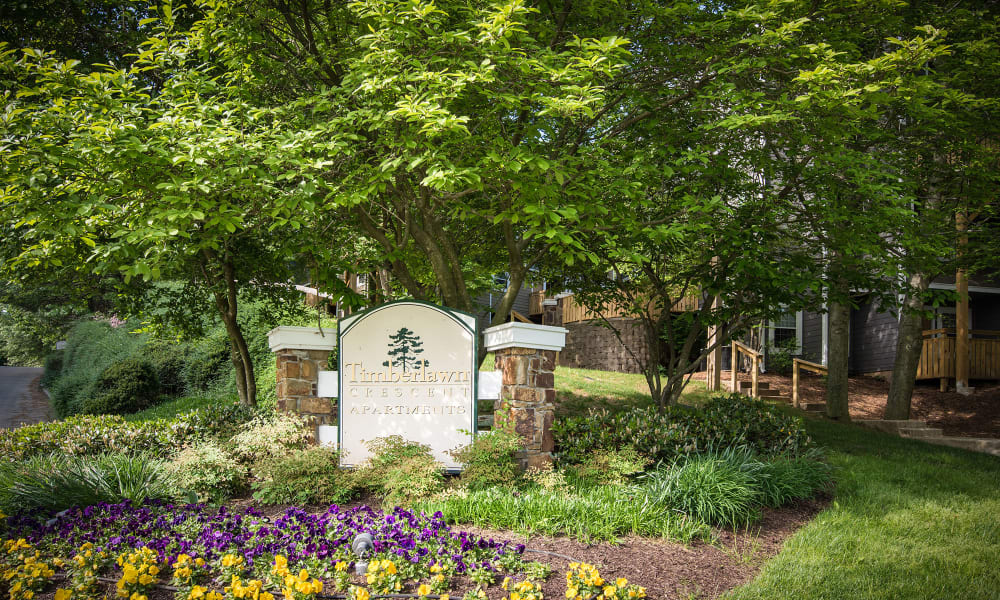 The sign in front of Timberlawn Crescent in North Bethesda, Maryland