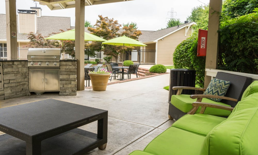 The grill area at Paddock Club Apartments in Florence, Kentucky