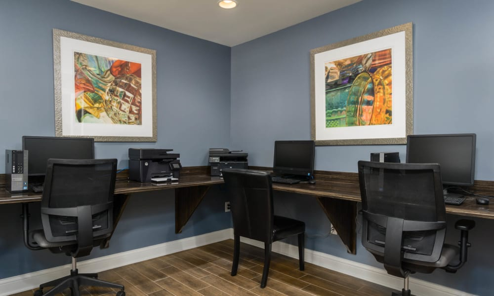 The office area at Paddock Club Apartments in Florence, Kentucky
