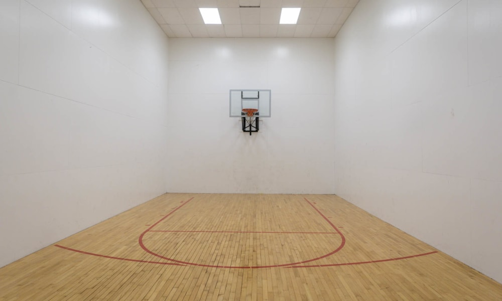 The racquetball and basketball court at Paddock Club Apartments in Florence, Kentucky