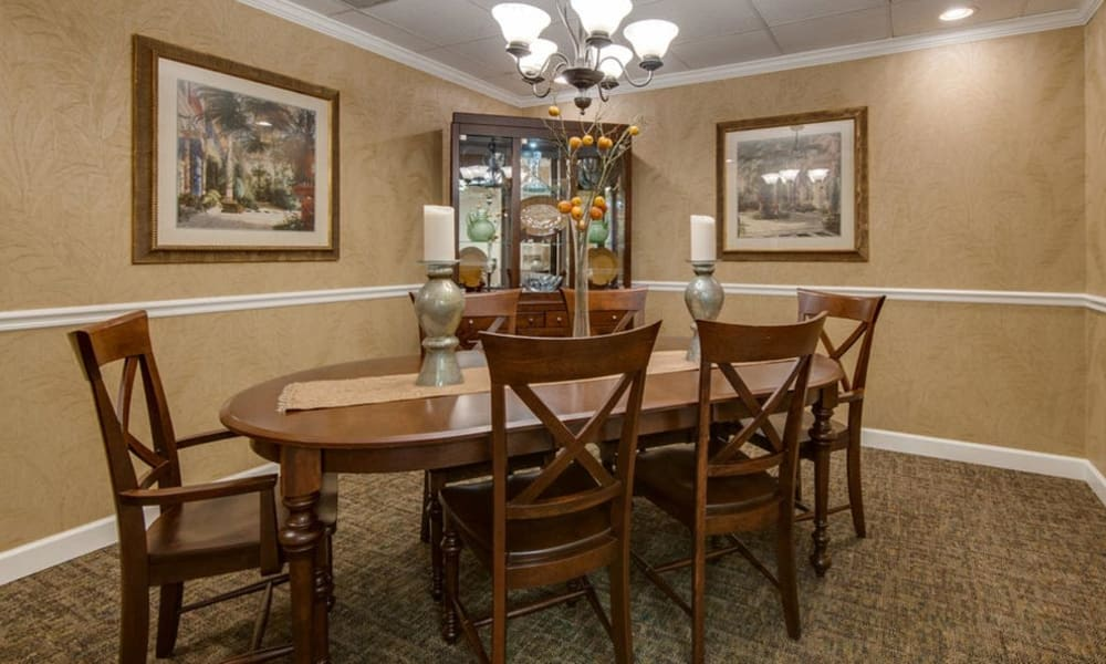 Family dining room at Spencer Place in Saint Peters, Missouri