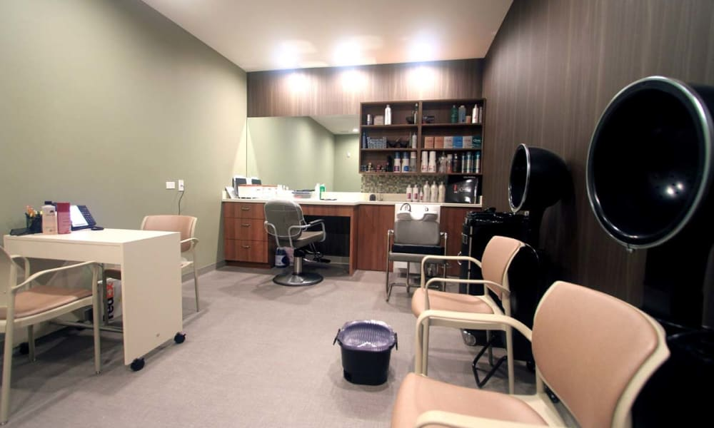 An onsite beauty salon at Anthology of Wheaton in Wheaton, Illinois