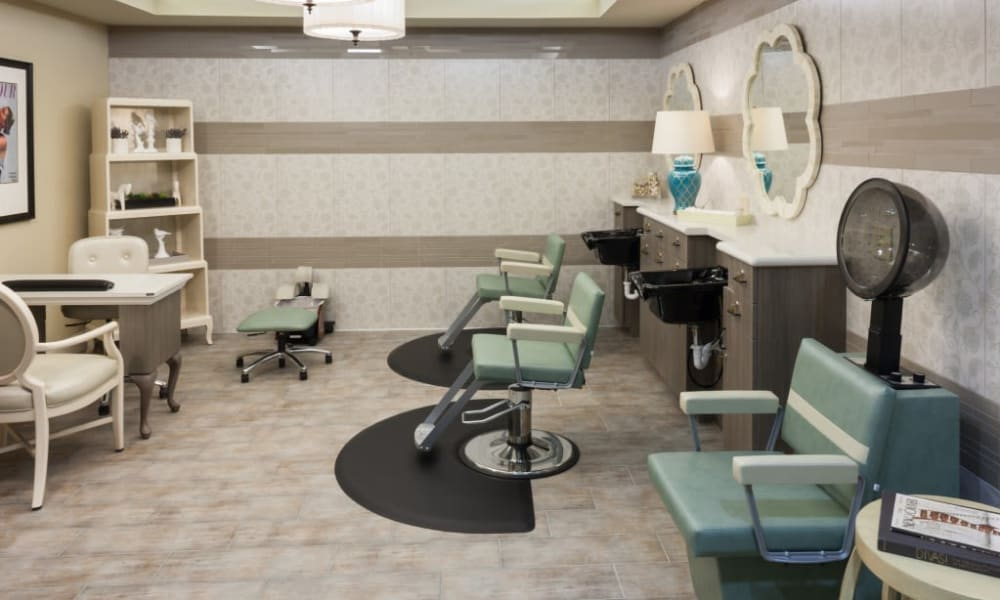 A hair salon for residents at Anthology of Stonebridge Ranch in McKinney, Texas