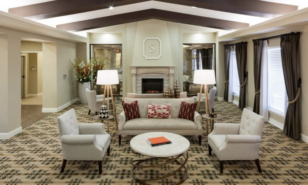 Inviting lounge seating at Anthology of Stonebridge Ranch in McKinney, Texas