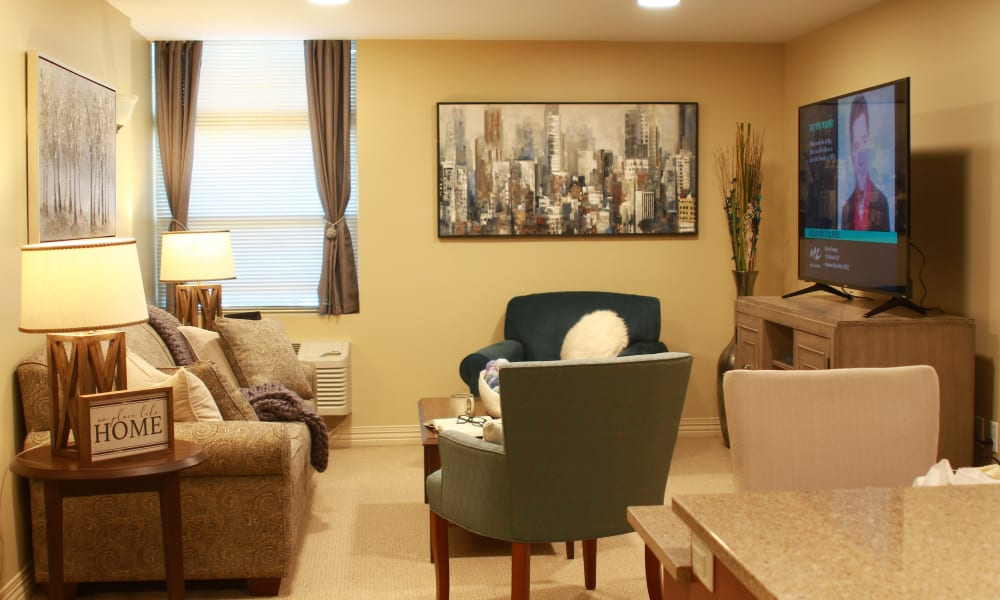 Apartment room at Anthology of Olathe in Olathe, Kansas.