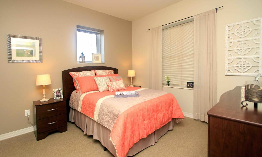A spacious bedroom at Anthology of Grayslake in Grayslake, Illinois
