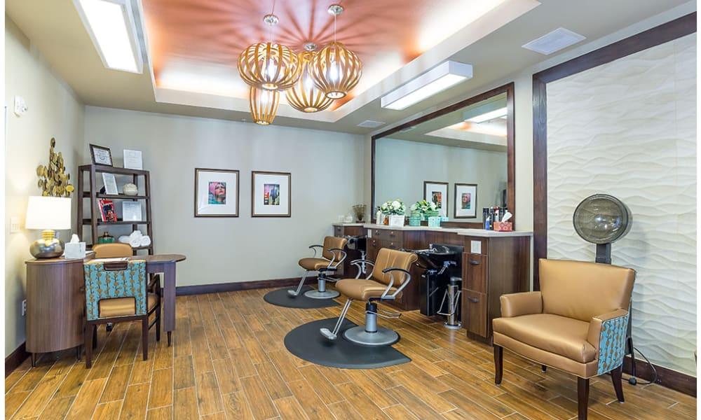 An onsite salon at Anthology of Denton in Denton, Texas