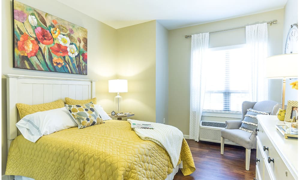 A spacious bedroom at Anthology of Denton in Denton, Texas