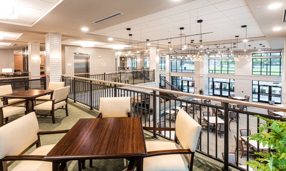 Dining area at Merrill Gardens at Columbia in Columbia, South Carolina.