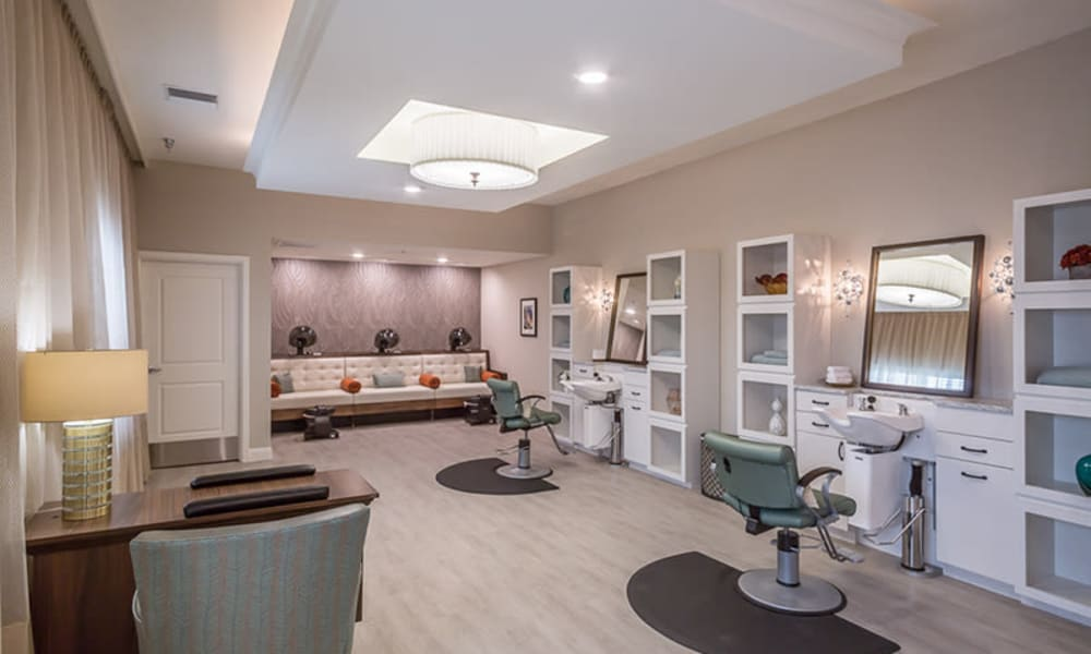 Salon at Anthology of Plano in Plano, Texas.