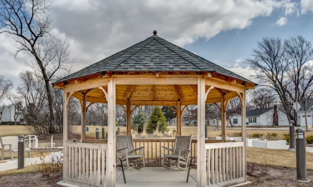 A gazebo at Anthology of Wheaton in Wheaton, Illinois