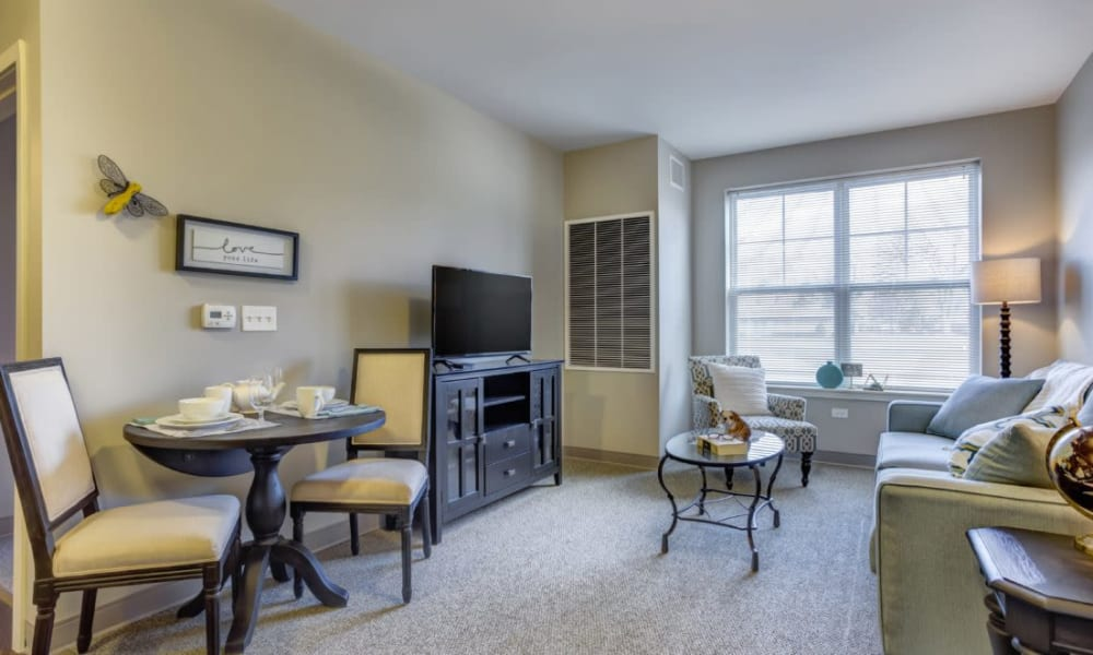 Spacious resident apartment at Anthology of Wheaton in Wheaton, Illinois.
