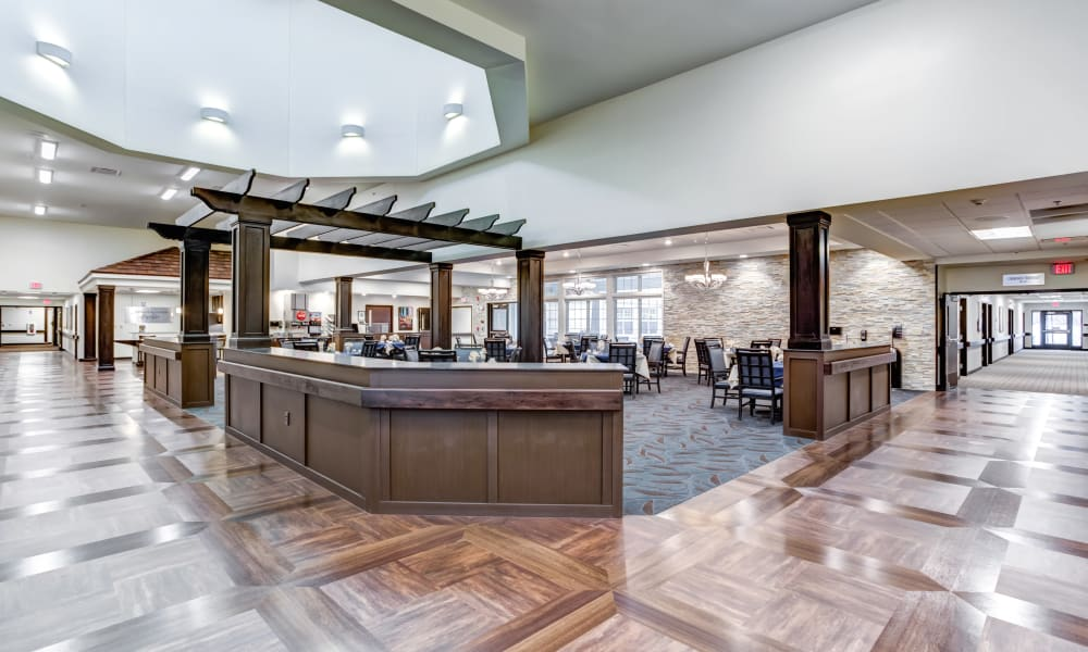 The community dining room at Trilogy Health Services - Bowling Green in Bowling Green, Ohio