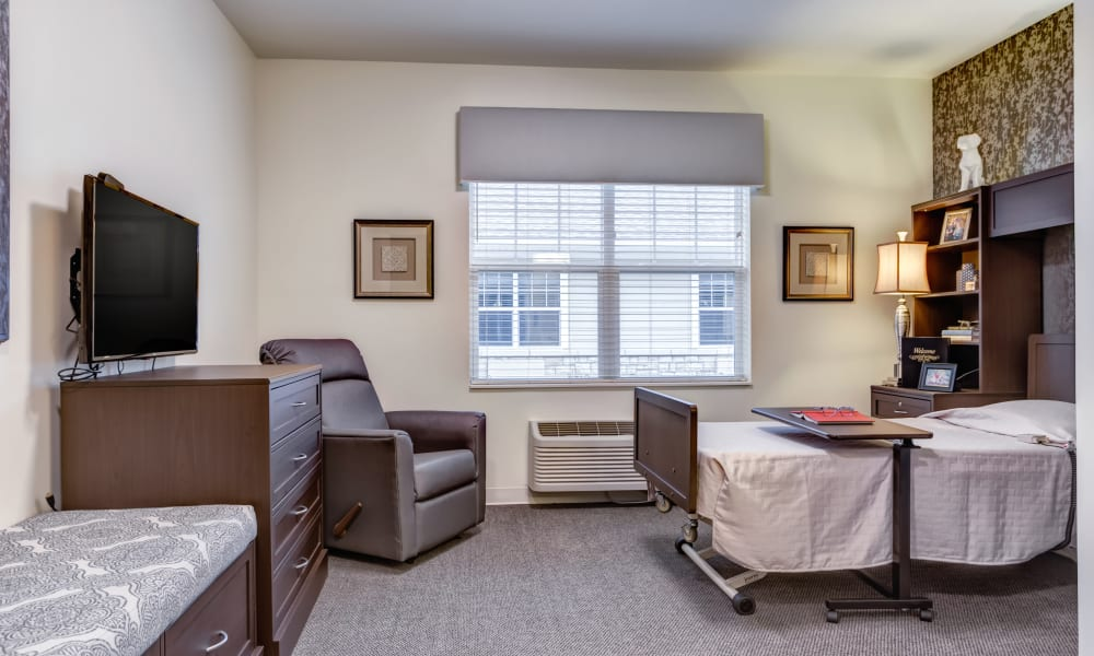 A skilled nursing studio apartment at Trilogy Health Services - Bowling Green in Bowling Green, Ohio