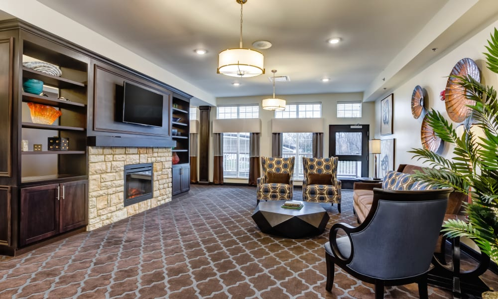An inviting lounge area at Trilogy Health Services - Liberty Township in Liberty Township, Ohio