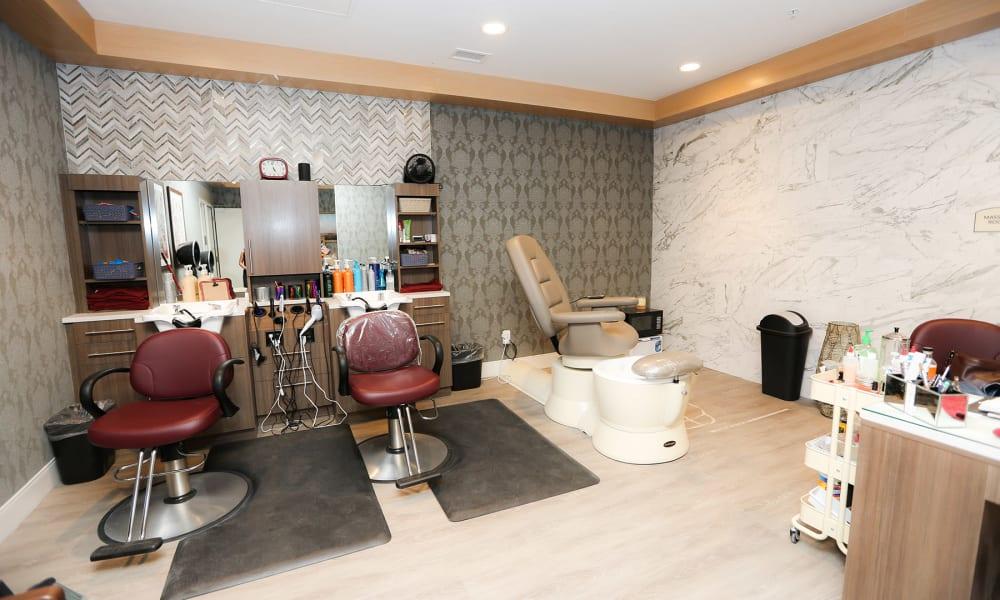 In house hair salon at Quail Park at Morrison Ranch in Gilbert, Arizona