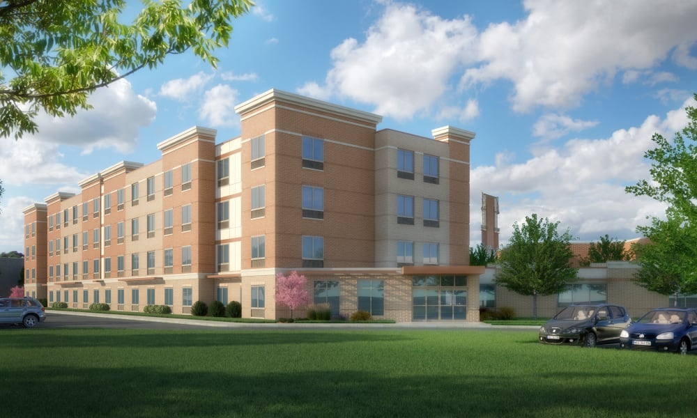Rendering of a new independent living building at Anthology of Olathe in Olathe, Kansas
