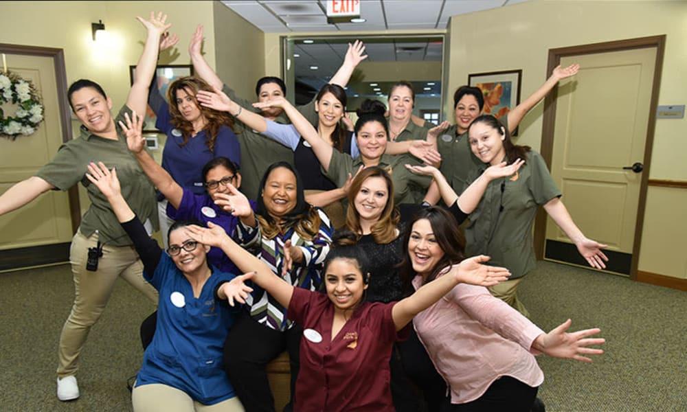 Caretaker team at Quail Park Memory Care Residences of Visalia in Visalia, California