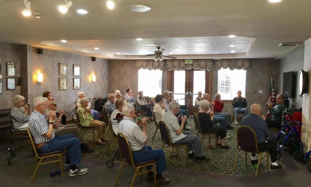 Group activity at Quail Park on Cypress in Visalia, California