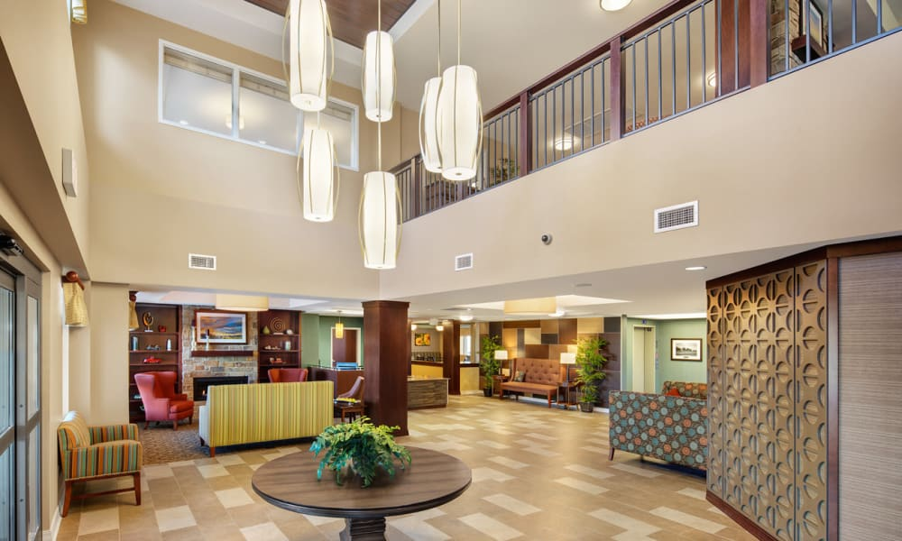 Main lobby at Anthology of Grayslake in Grayslake, Illinois.