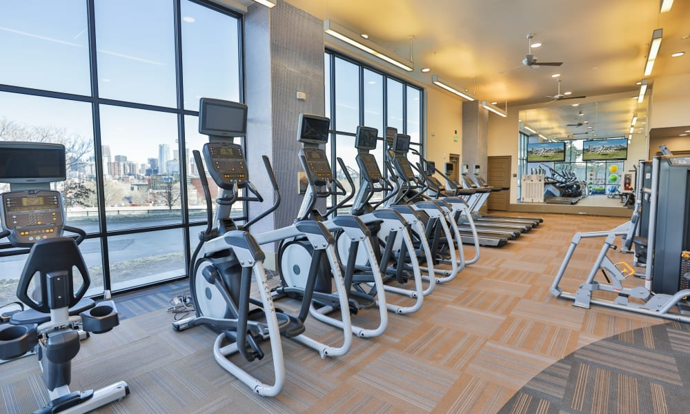 Highend trendy fitness area  The Alcott in Denver, Colorado