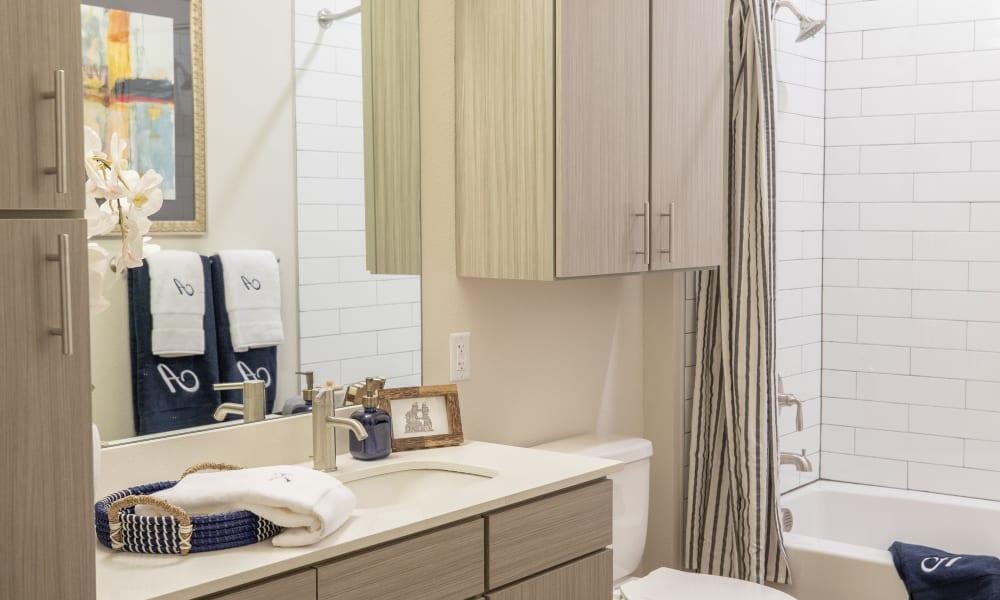 Bathroom at The Alcott in Denver, Colorado