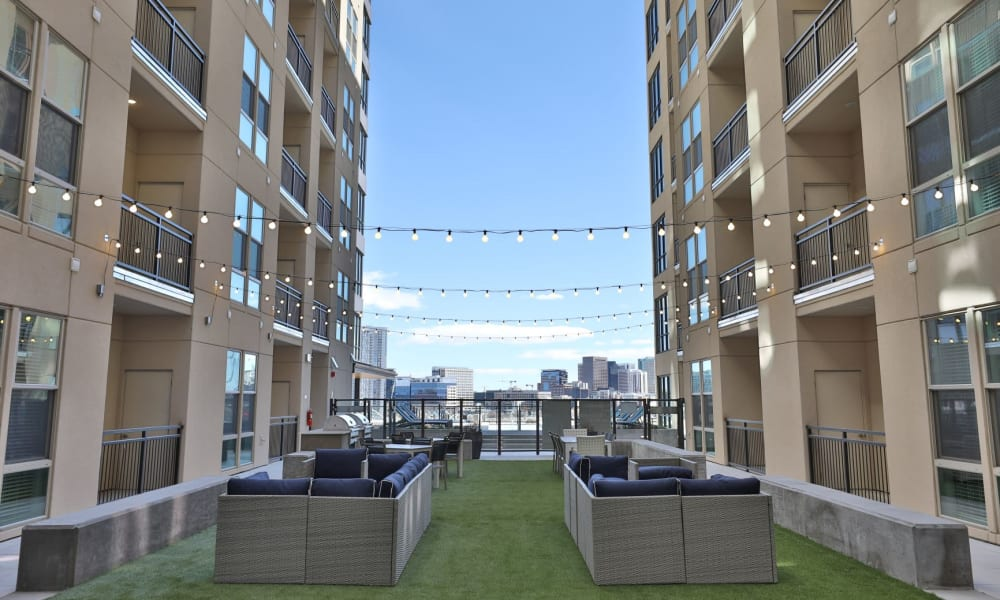 Outdoor Courtyard at The Alcott in Denver, Colorado