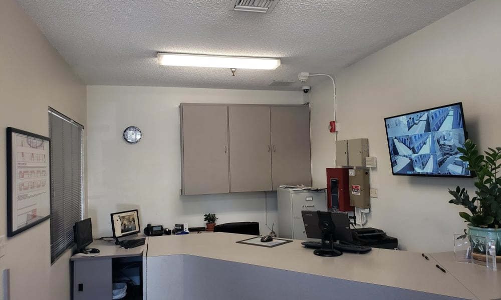 Storage leasing office at Storage Etc Tarzana