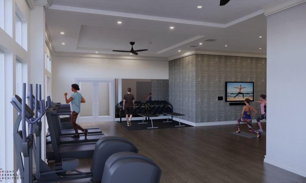 Tenant Lounge at Rienzi at Turtle Creek Apartments in Dallas, Texas