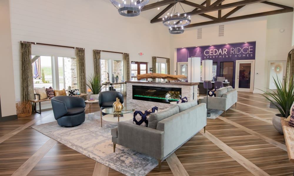 Clubhouse and leasing office at Cedar Ridge in Tulsa, Oklahoma