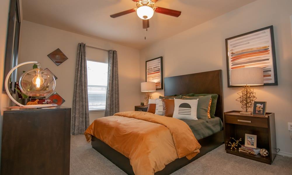 Cozy bedroom at Cedar Ridge in Tulsa, Oklahoma
