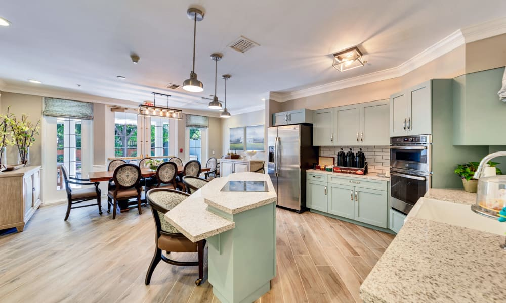 Bright kitchen area at Kirkwood Orange in Orange, California