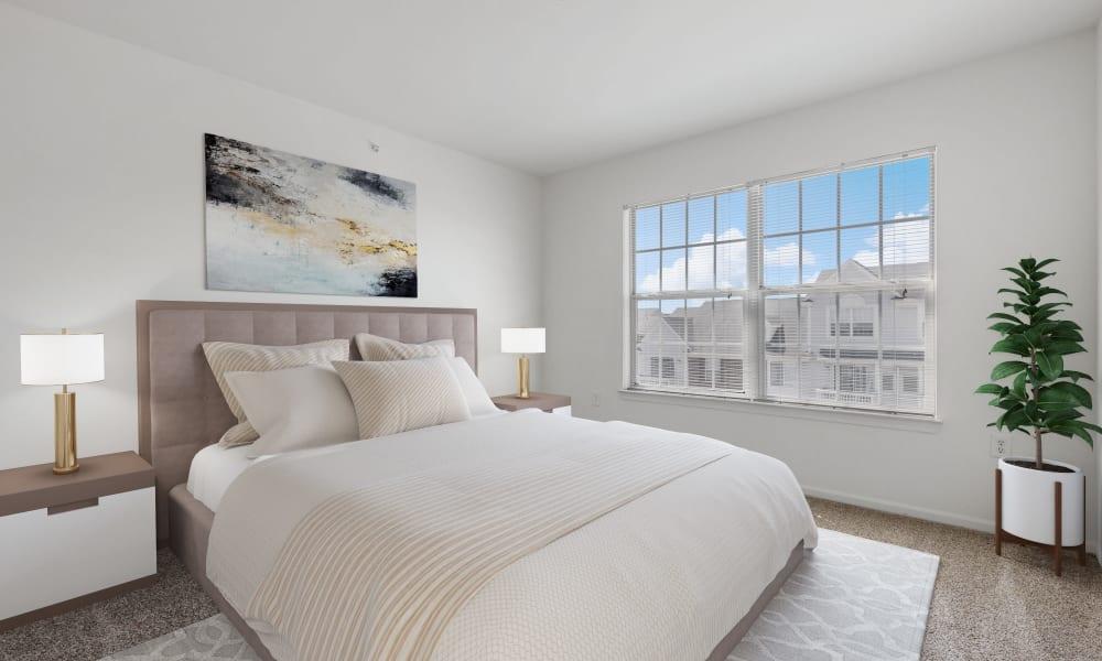 Model bedroom at Brownstones